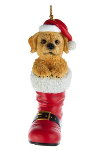 Labradoodle Boot Ornament