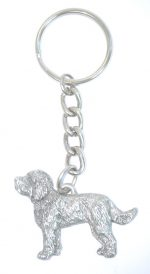 Labradoodle Keychain Pewter