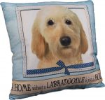 Labradoodle Pillow 16x16 Polyester Yellow