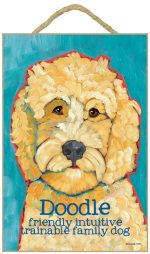 Labradoodle Characteristics Indoor Sign Blonde