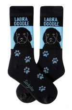 Labradoodle Black Socks - Black and Blue in Color