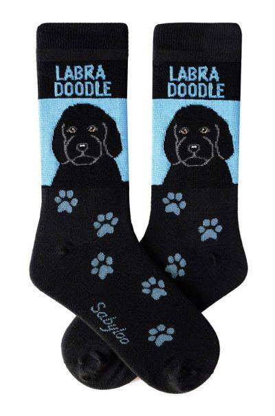 Labradoodle Black Socks - Black and Blue in Color