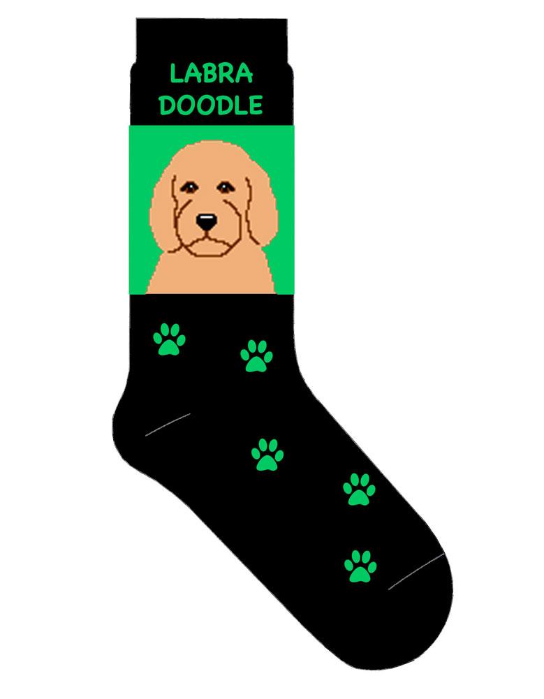 labradoodle-socks-green