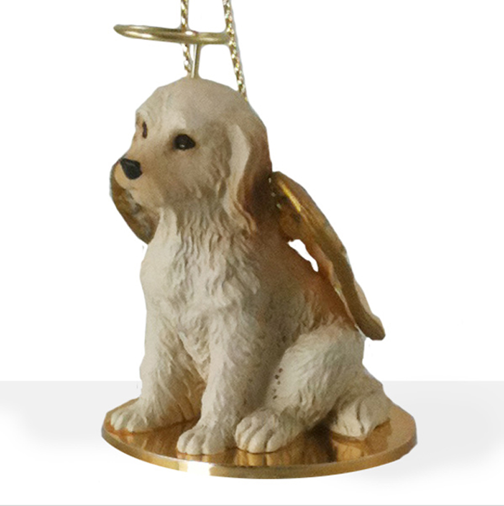 Labradoodle Guardian Angel Ornament Cream