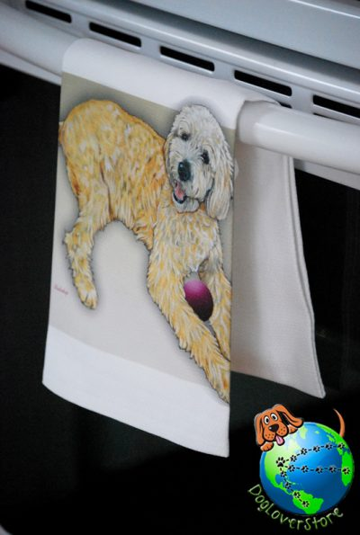 Labradoodle Kitchen Hand Towel 1