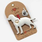 Labrador Retriever Holiday Ornament & Collar Charm Set 1