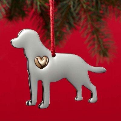Labrador Retriever Holiday Ornament & Collar Charm Set 2