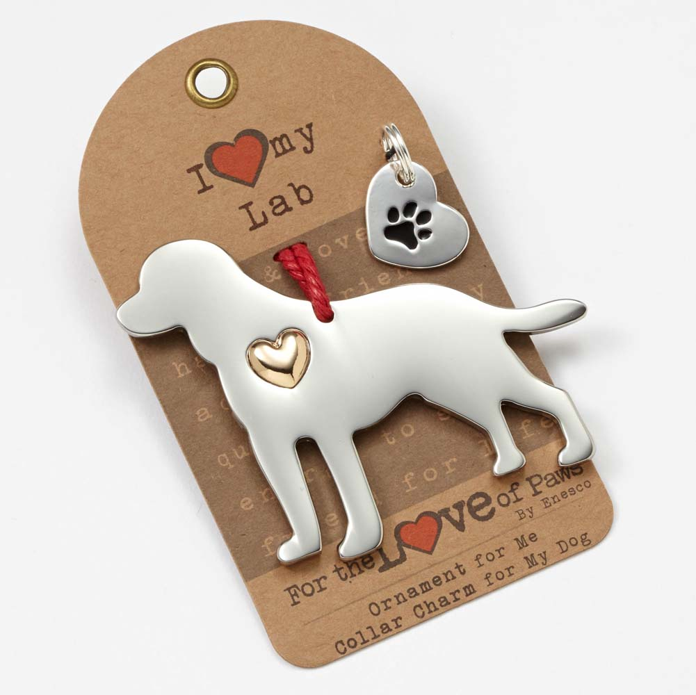 Labrador Retriever Holiday Ornament & Collar Charm Set