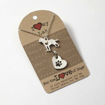 Labrador Retriever Necklace & Collar Charm Set 16 Inches