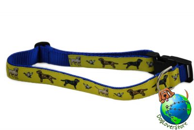 "Labrador Retriever Dog Breed Adjustable Nylon Collar XL 13-26"" Yellow"