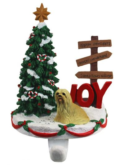 Lhasa Apso Stocking Holder Hanger Blonde