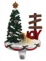 Lhasa Apso Brown Stocking Holder