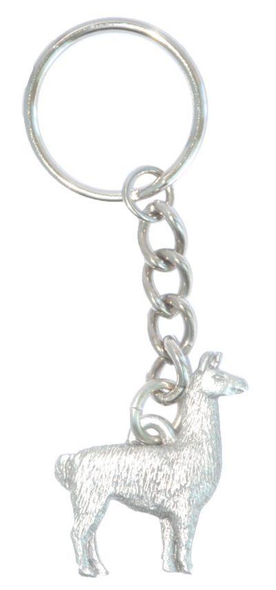 Llama Keychain Pewter