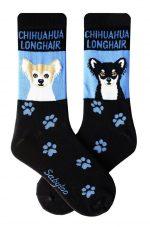 Chihuahua Socks Longhair Tan & Black