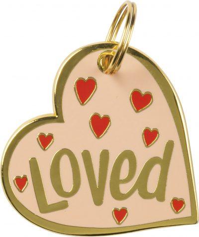 Loved Heart Collar Charm