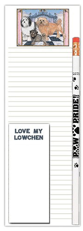 Lowchen Dog Notepads To Do List Pad Pencil Gift Set
