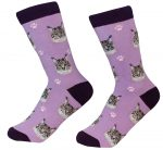 Main Coon Cat Face Pattern Socks
