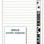 Malamute Dog Notepads To Do List Pad Pencil Gift Set 1