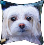 "Maltese Artistic Throw Pillow 18X18"""