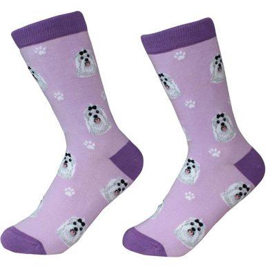 Maltese Face Pattern Socks