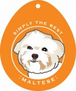 Maltese Sticker 4x4""