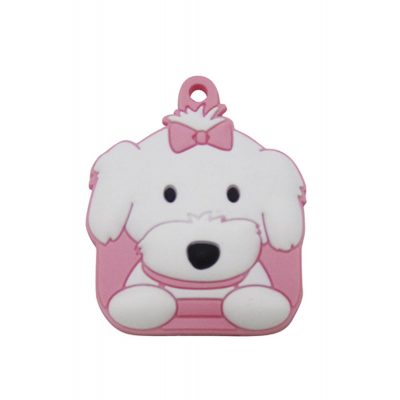 Maltese with Bow Key Cover 1