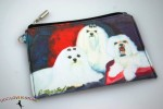 Maltese Dog Bag Zippered Pouch Travel Makeup Coin Purse