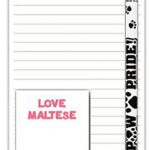 Maltese Dog Notepads To Do List Pad Pencil Gift Set 1