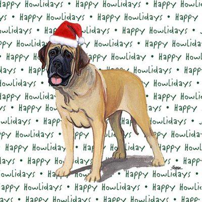 Mastiff Dog Coasters Christmas Themed 1