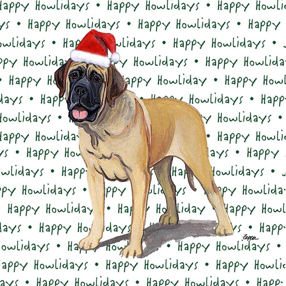 Mastiff Dog Coasters Christmas Themed
