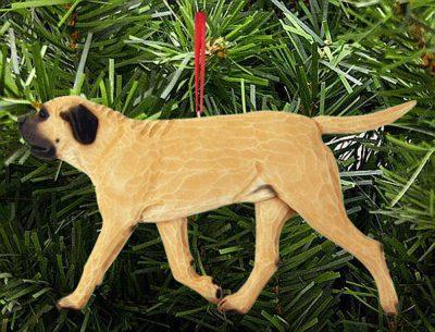 Mastiff Tree Ornament Fawn