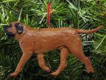 Mastiff Tree Ornament Red