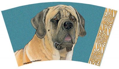 Mastiff Tumbler With Straw Design