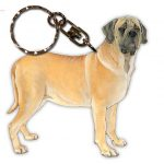 Mastiff Wooden Dog Breed Keychain Key Ring
