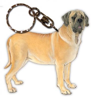 Mastiff Wooden Dog Breed Keychain Key Ring
