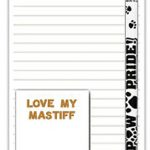 Mastiff Dog Notepads To Do List Pad Pencil Gift Set 1