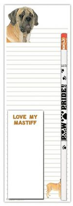 Mastiff Dog Notepads To Do List Pad Pencil Gift Set