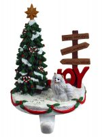 Mini American Eskimo Stocking Holder Hanger
