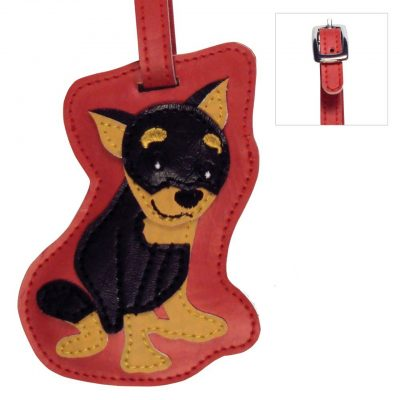 Mini Pinscher Dog Luggage Tag Briefcase Gym Backpack Travel ID 1
