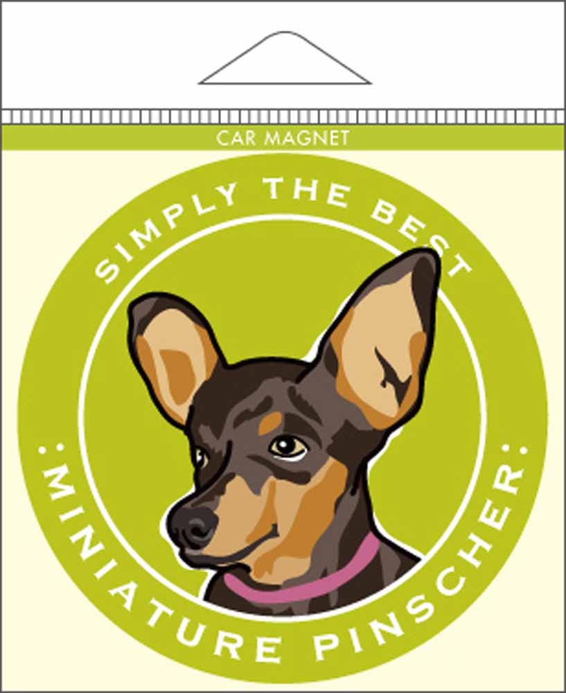 Miniature Pinscher Car Magnet 4x4""