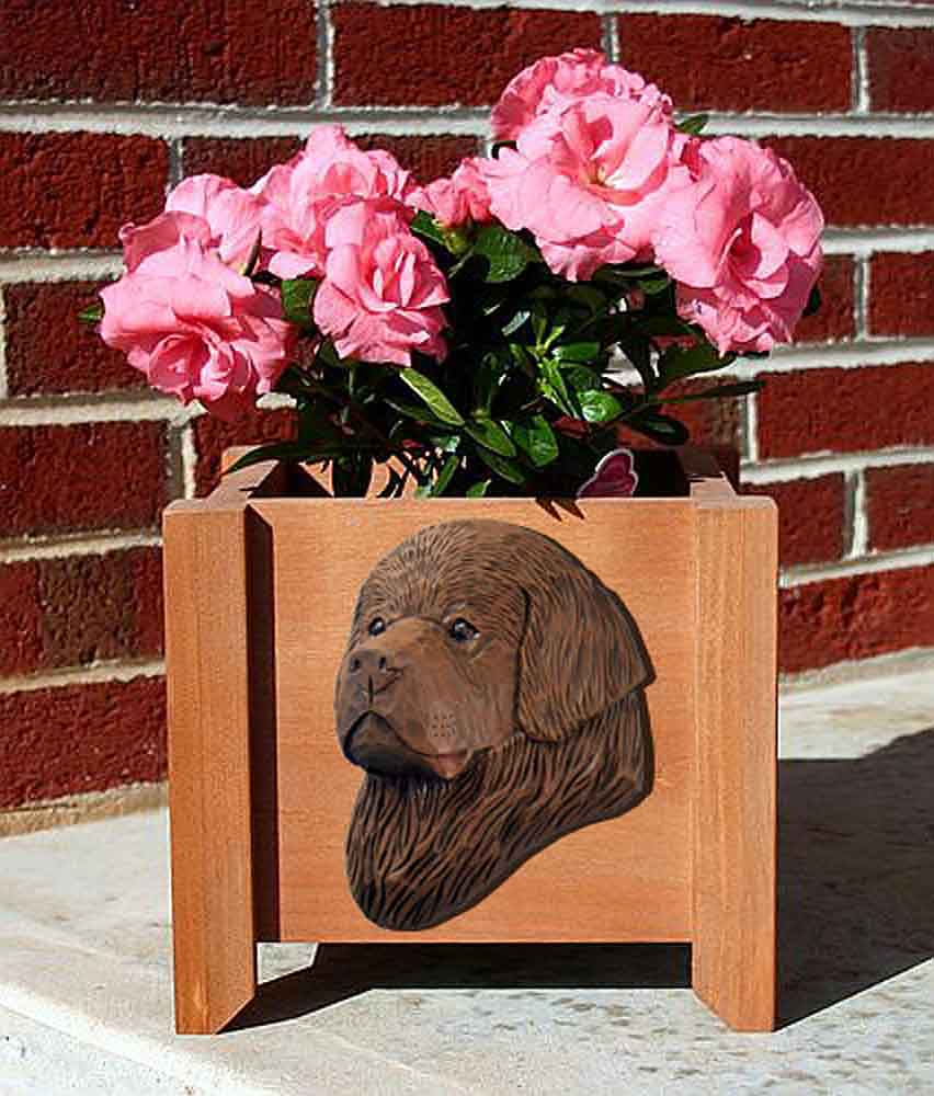 Newfoundland Planter Flower Pot Brown