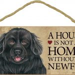 Newfoundland Indoor Dog Breed Sign Plaque – A House Is Not A Home + Bonus Coaster 1