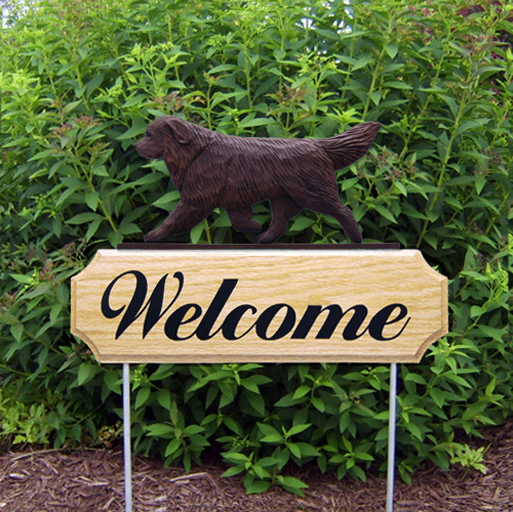 Newfoundland Outdoor Welcome Garden Sign Brown in Color
