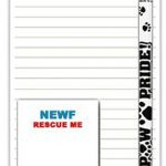 Newfoundland Dog Notepads To Do List Pad Pencil Gift Set 1