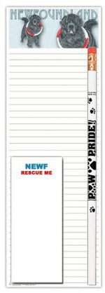 Newfoundland Dog Notepads To Do List Pad Pencil Gift Set