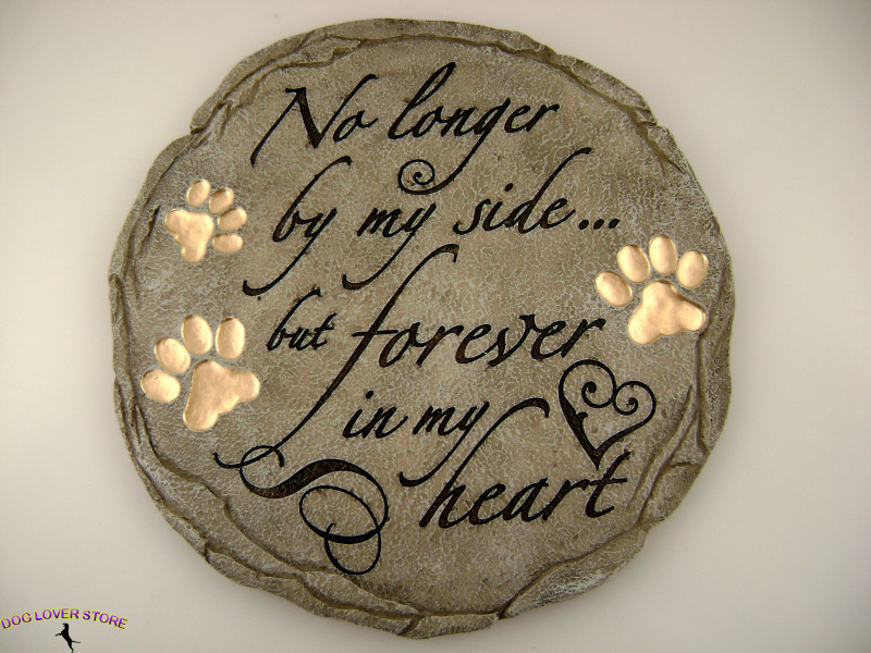 Outdoor Garden Dog Stepping Stone No Longer By My Side