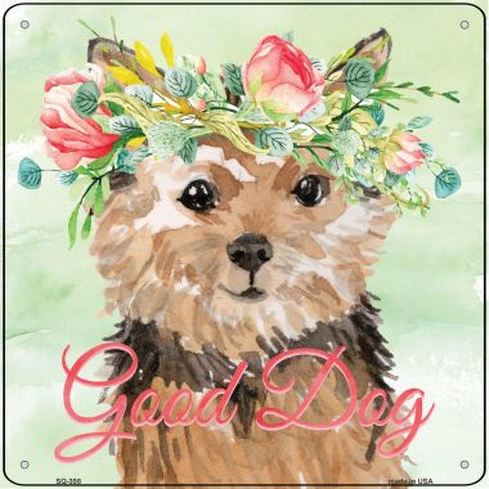 """Norfolk Terrier """"Good Dog"""" Metal Sign"""