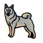 norwegian-elkhound-iron-on-embroidered-patch