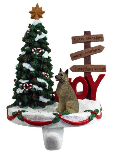 Norwegian Elkhound Stocking Holder Hanger