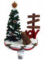 Norwich Terrier Stocking Holder Hanger
